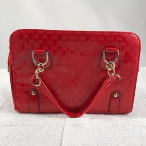 Handbags - 10x10 Crossbody red shiny quilt patent purse